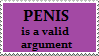 Stamp: Penis is valid argument by Riza-Izumi