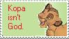 Stamp: Kopa isn't God by Riza-Izumi
