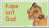 Stamp: Kopa isn't God by Riza-Izumi