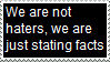 Stamp: We aren't haters by Riza-Izumi
