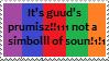 Stamp: it'z guud's prumis bawww1111 by Riza-Izumi
