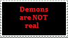 Stamp: Demons are not real by Riza-Izumi