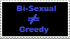 Stamp: Bisexual not greedy by Riza-Izumi