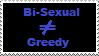 Stamp: Bisexual not greedy by Riza-Izumi