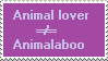 Stamp: Animal lovers and aboos by Riza-Izumi