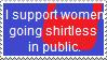 Stamp: Women going shirtless by Riza-Izumi