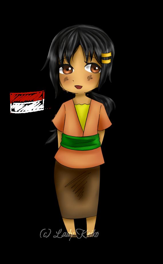 PCOM: Chibi Indonesia by The-LadyK
