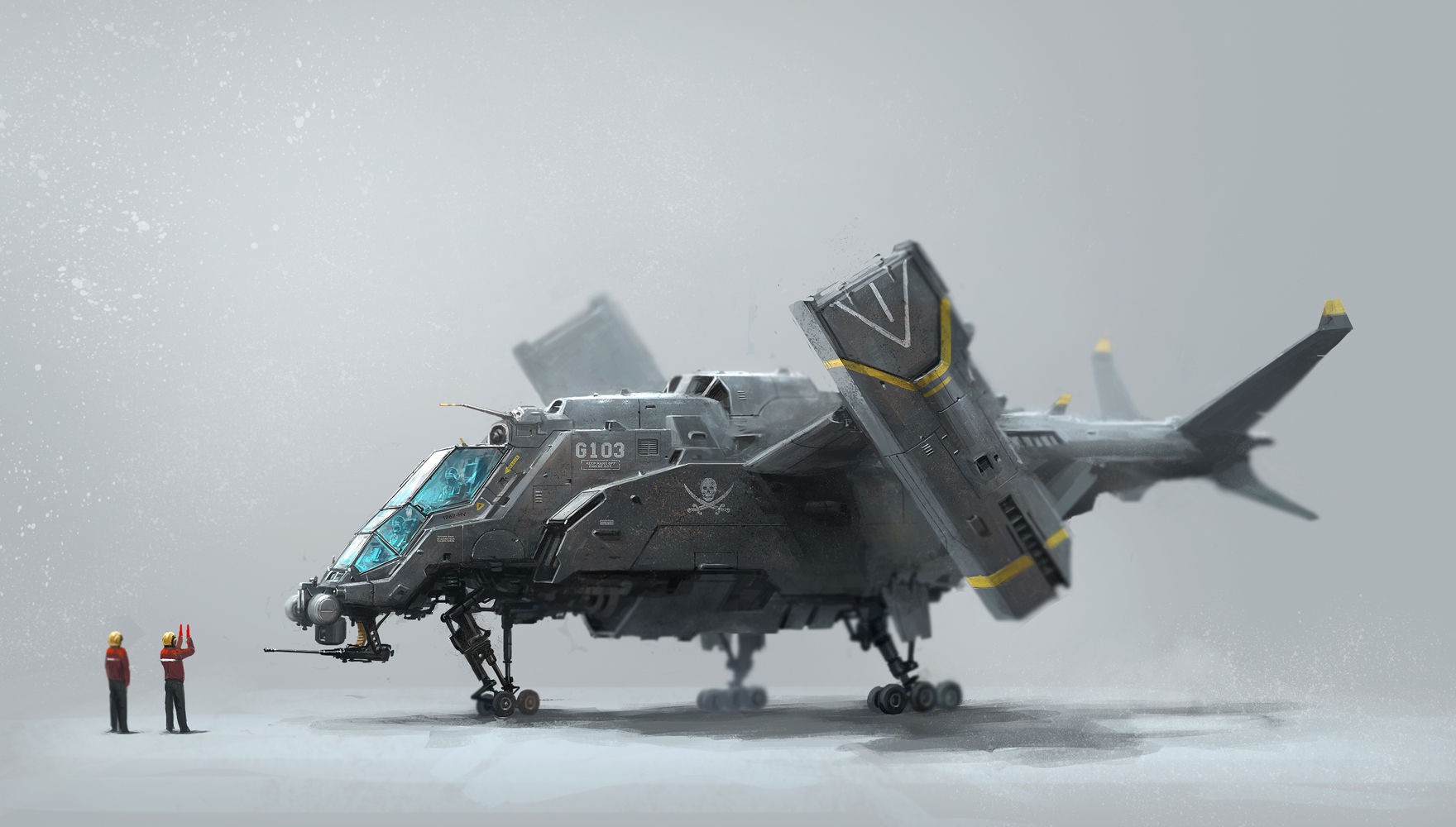 G103 aircraft by alex ichim on deviantart for Porte helicoptere