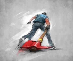 Axeman by alex-ichim