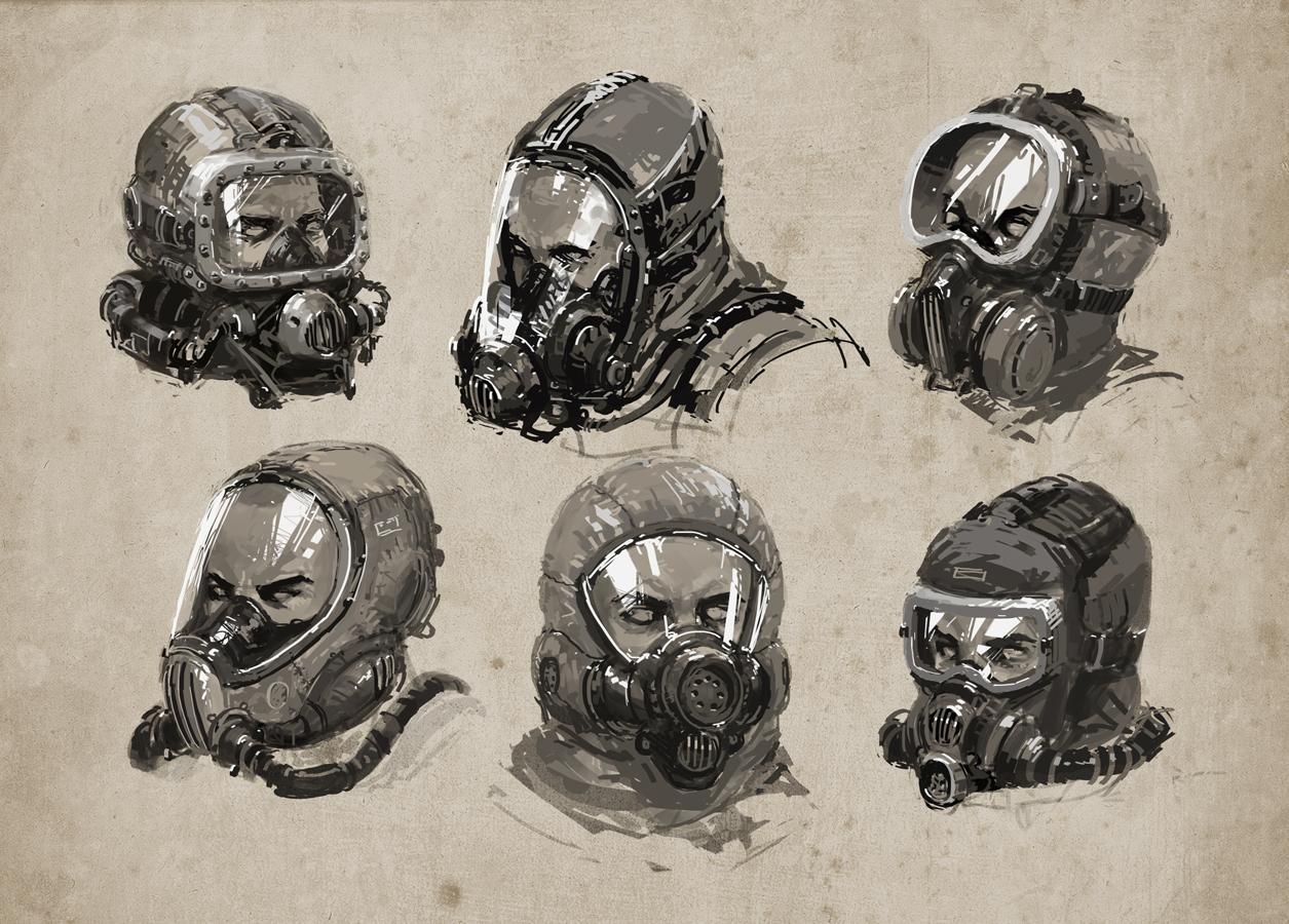 Breathing mask studies by alex-ichim