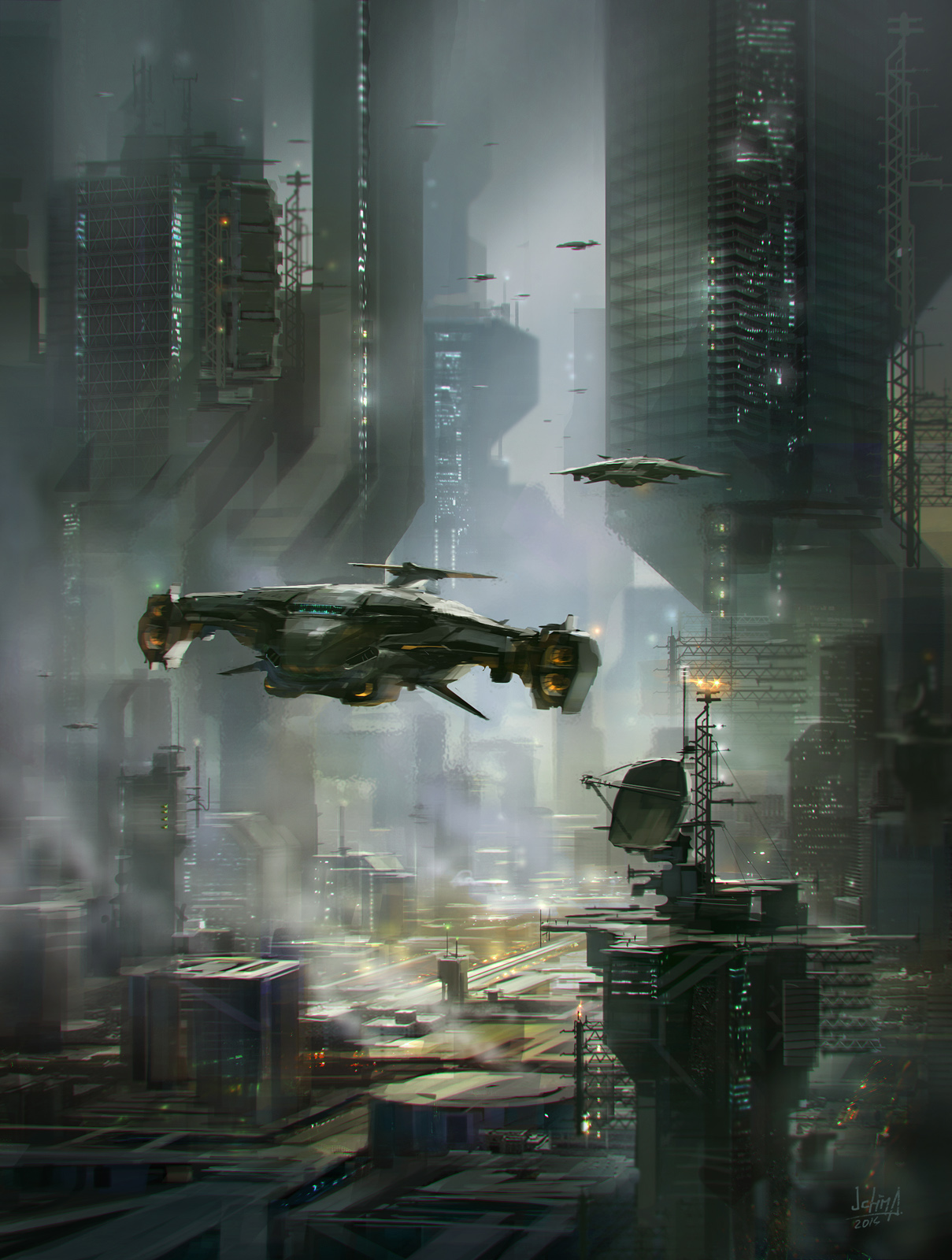 Sci-fi city by alex-ichim