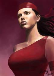Adriana Lima as Elektra by robbyv