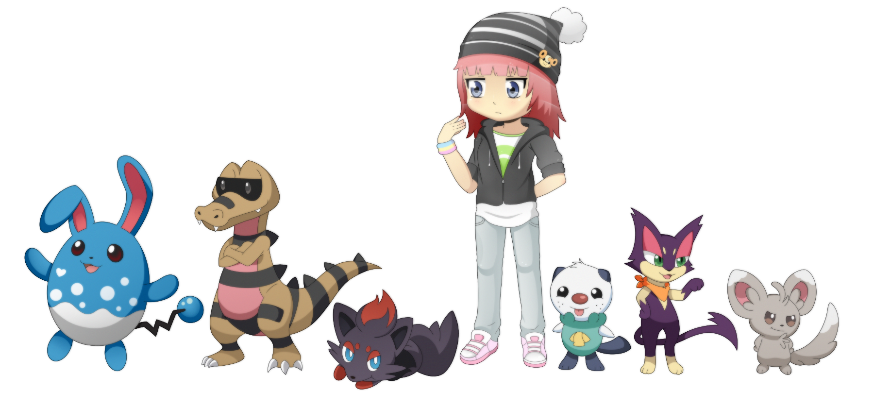 Me and my pokemon! by VanilleCream