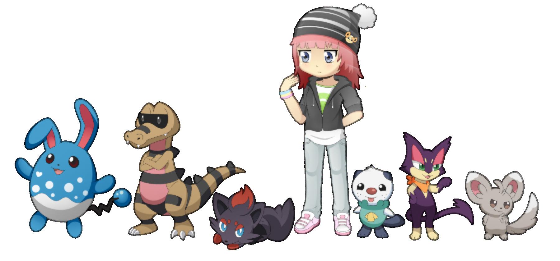 Me and my pokemon! by VanilleCream