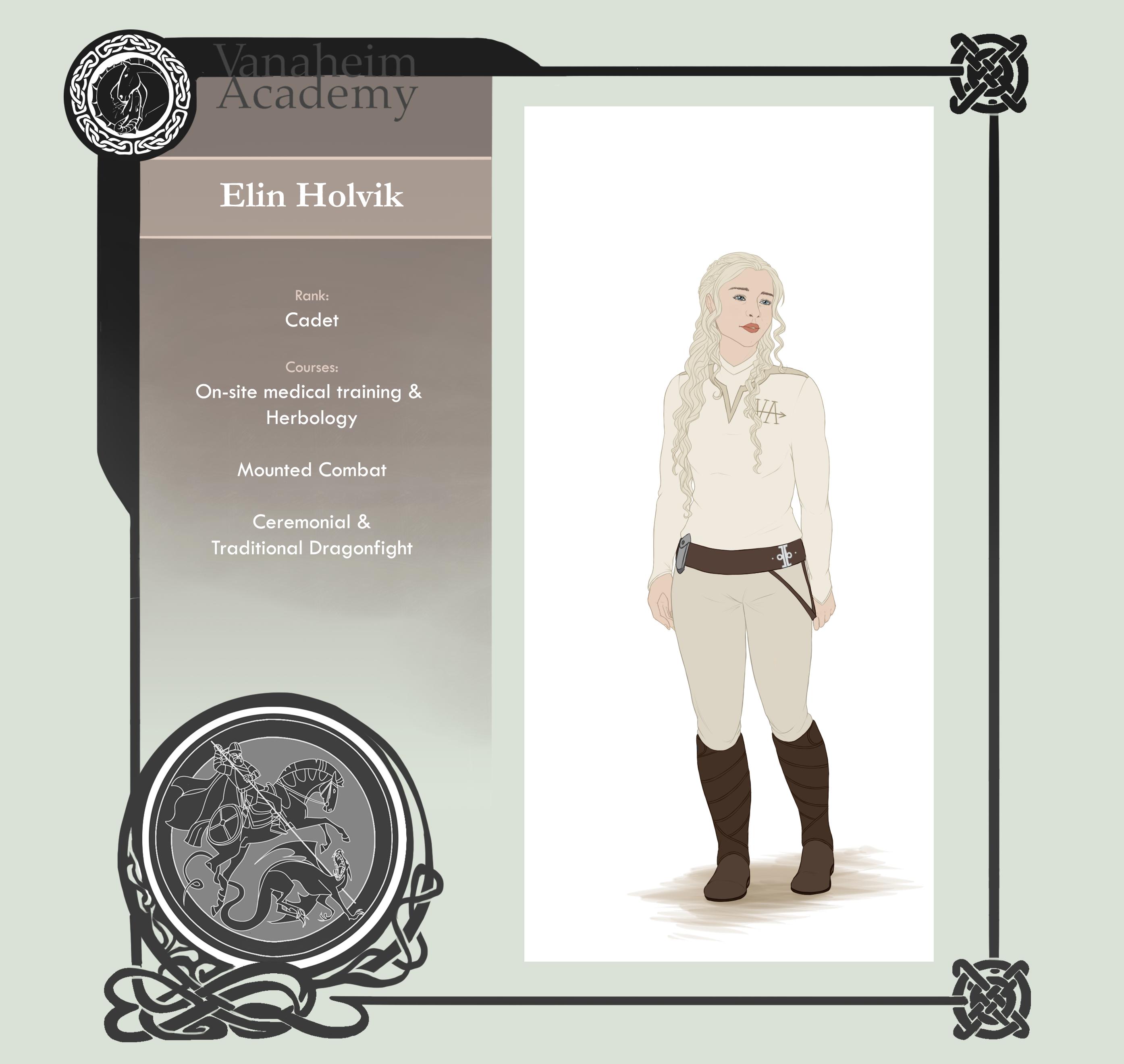 Vanaheim Academy   Cadet   Elin Holvik