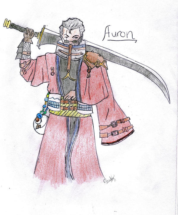 Auron for edilfire by crazy-anime-girl