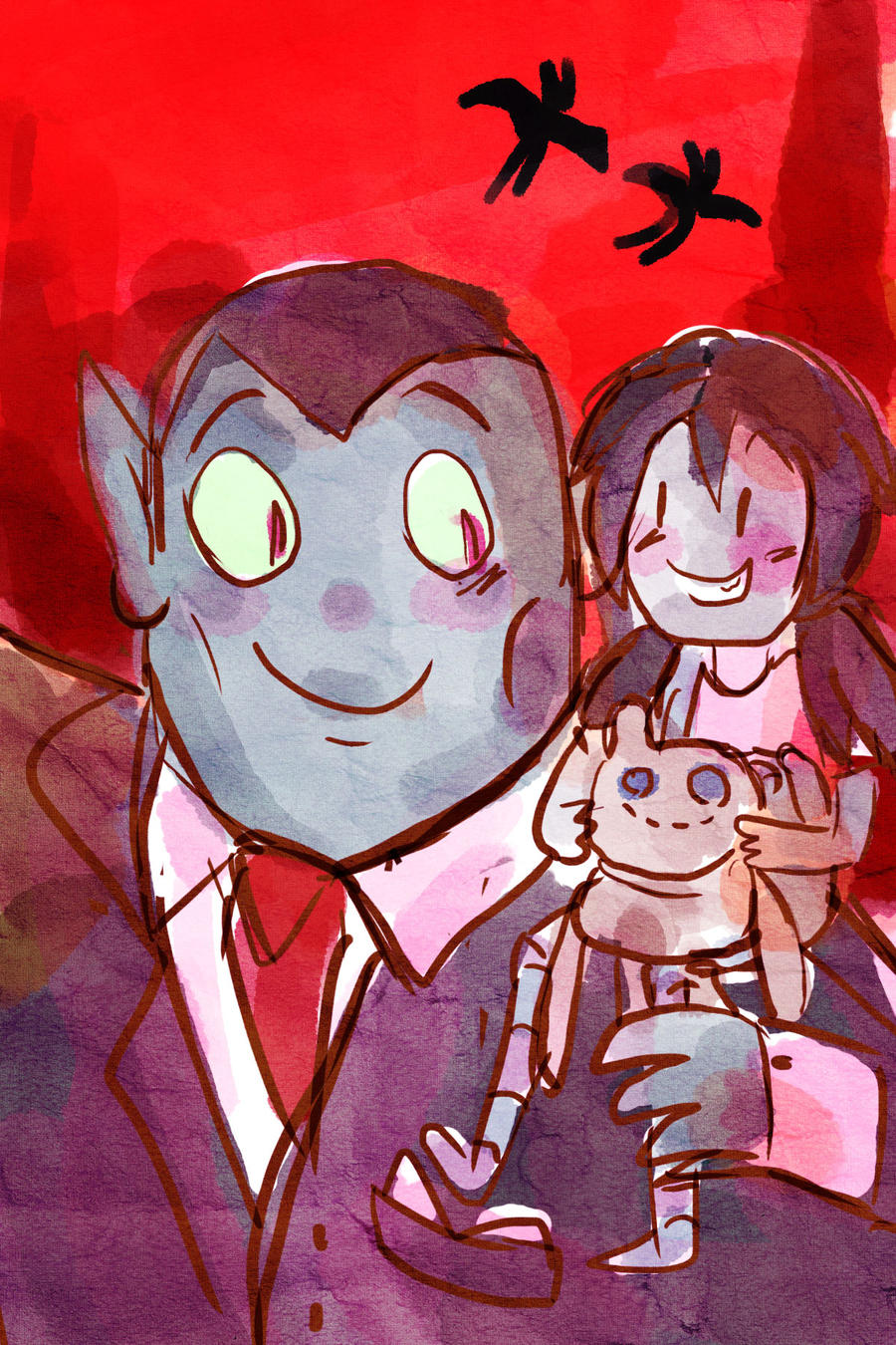 Marceline and Hunson Abadeeer print by manonquinn