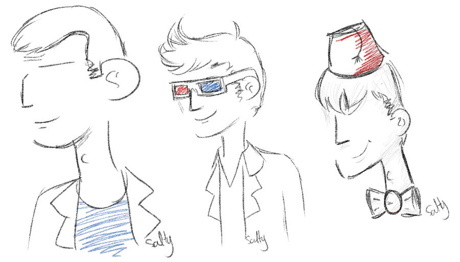 DW: Doctor sketches by saladsalty
