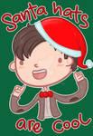 I wear a santa hat now