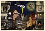 Art Nouveau collage