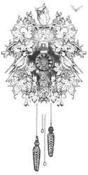 Cuckoo Clock Tattoo Commission by Ollerina