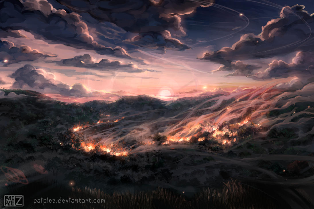 Background painting a by Paiplez