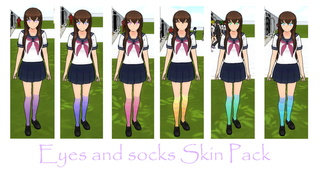 Eyes And Socks Skin Pack By Yandereskins050802