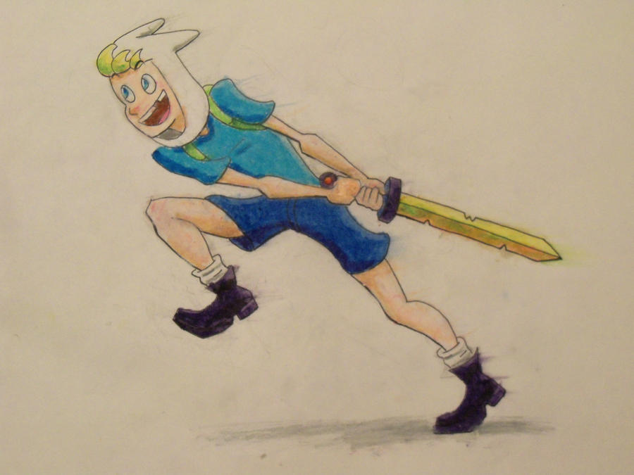 Finn from Adventure Time by LaundryPile
