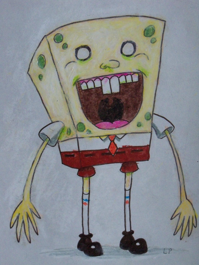 Scary Spongebob by LaundryPile