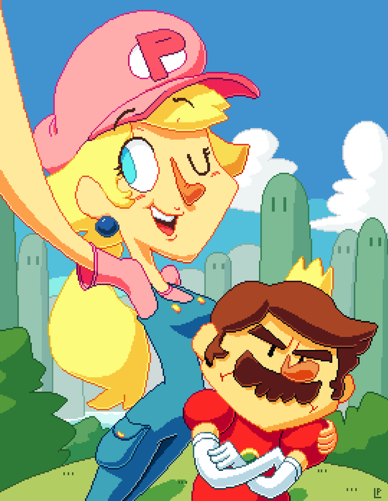 Peach and Mario by LaundryPile