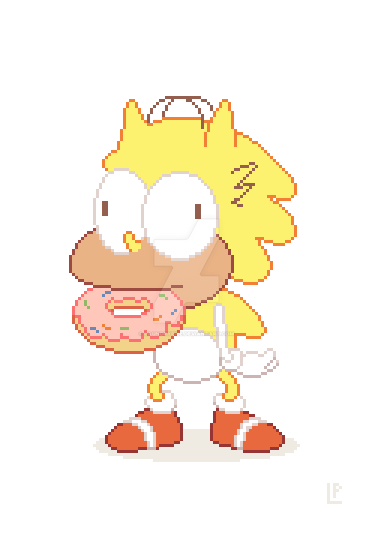 Sonic OC Donut Steal by LaundryPile