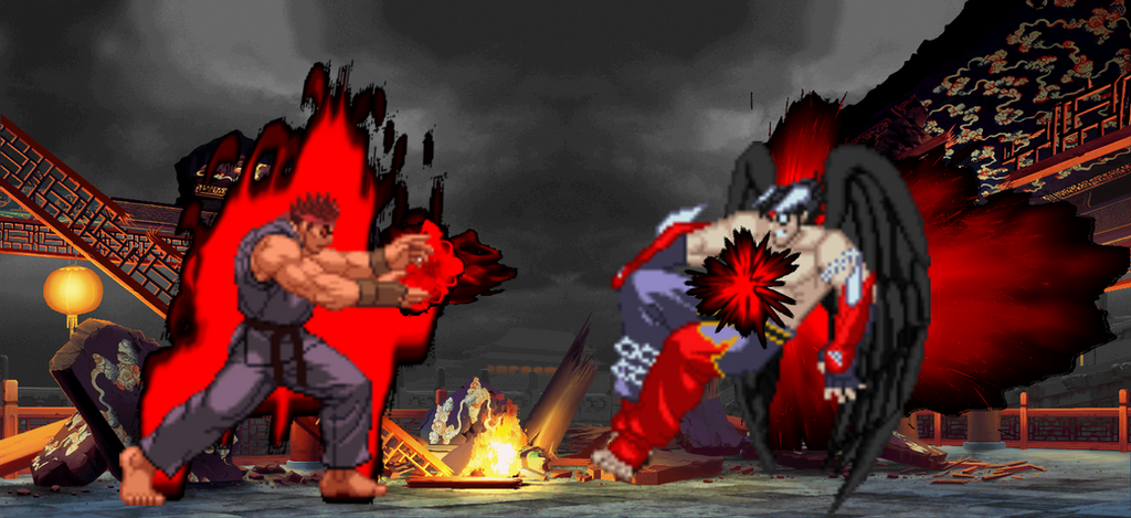 evil ryu blast devil jin sprites by horrorfan439000 on deviantart