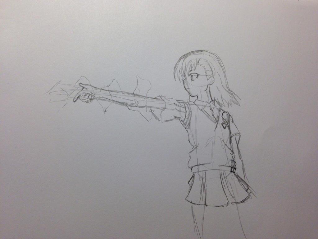 A Certain Scientific Railgun  Fan Art Sketch by InfinityApocalypse
