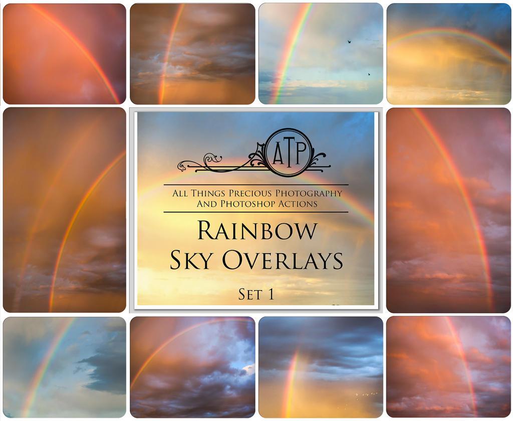 Rainbow sky overlays by AllThingsPrecious