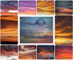 Sunset Sky Overlays by AllThingsPrecious