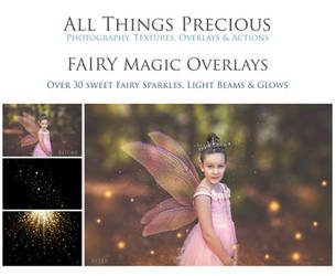 Fairy Magic Sparkles, Glows and Flares SET. by AllThingsPrecious