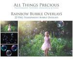 Rainbow Bubble Overlays