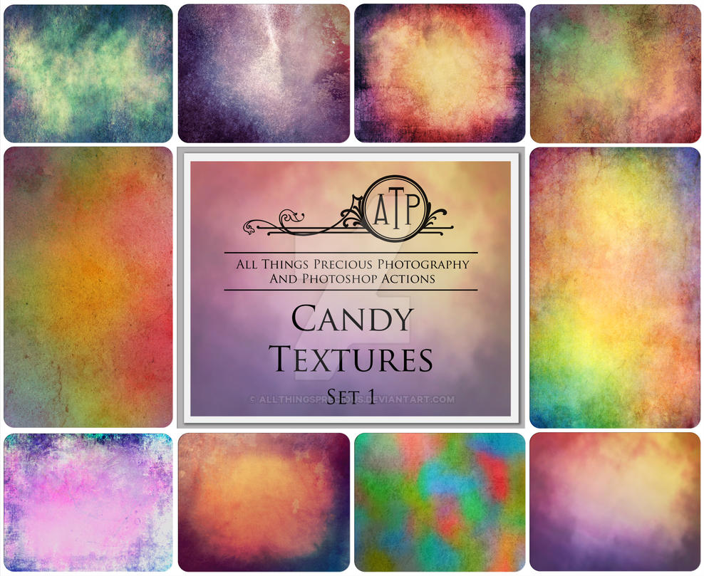 Candy Textures SET 1 by AllThingsPrecious