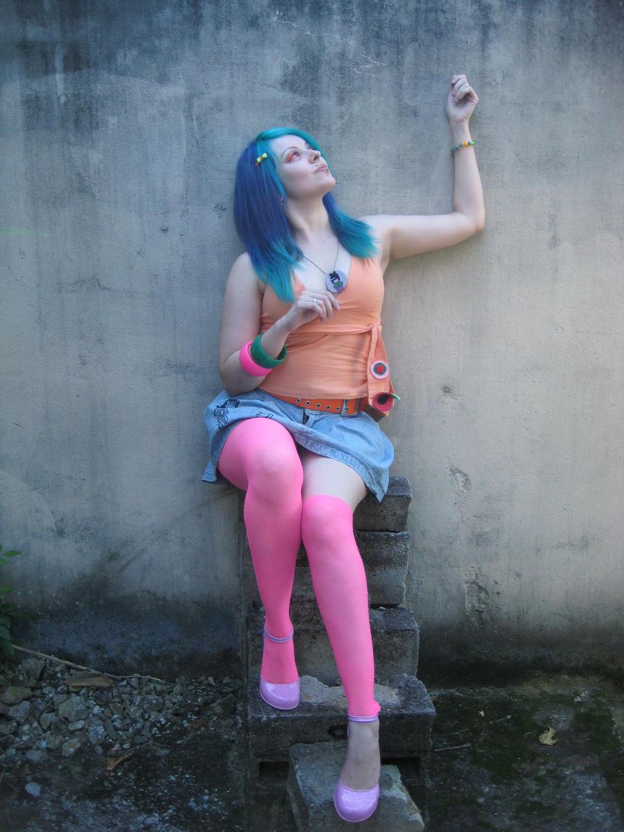 Girl Dyed Hair Stock Photo