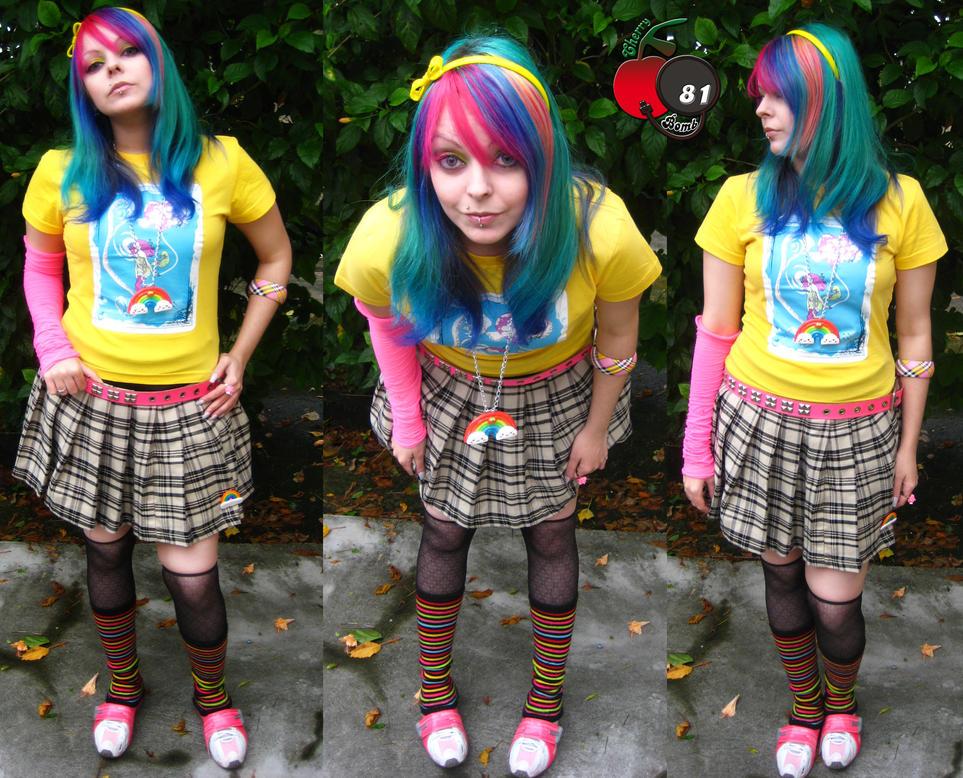 Style Scene Hair on Rainbow Cherry Scene Style By  Cherrybomb 81 On Deviantart