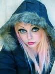 Winter Coat Hood Cherry Girl