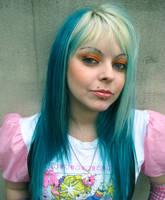 Scene Girl Cherry Green Face by cherrybomb-81