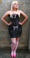 Cherry Blond Girl Corset Stock