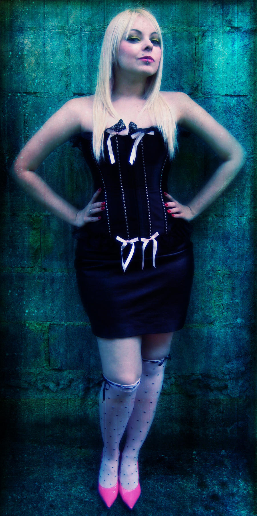 Cherry Blond Girl Corset Edit by cherrybomb-81