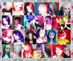 Colorfull Bright Style Hair
