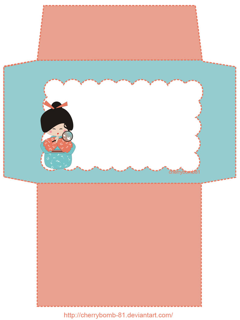 stationary envelope kokeshi by cherrybomb 81 on deviantart With letter stationery and envelopes