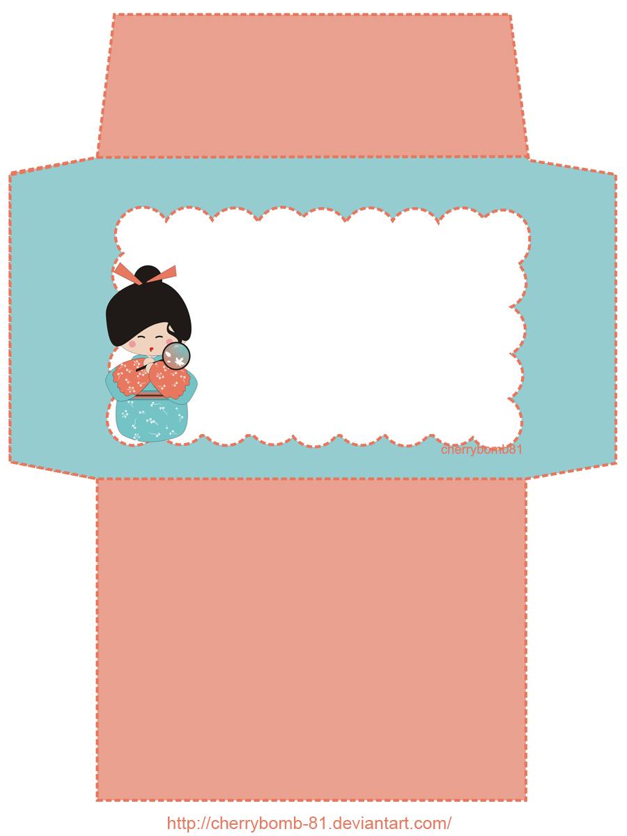 Stationary Envelope Kokeshi By Cherrybomb 81 On Deviantart