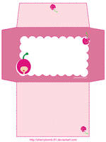 Stationery Envelope Cute Pink by cherrybomb-81