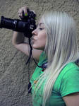 Platinum Girl With Camera