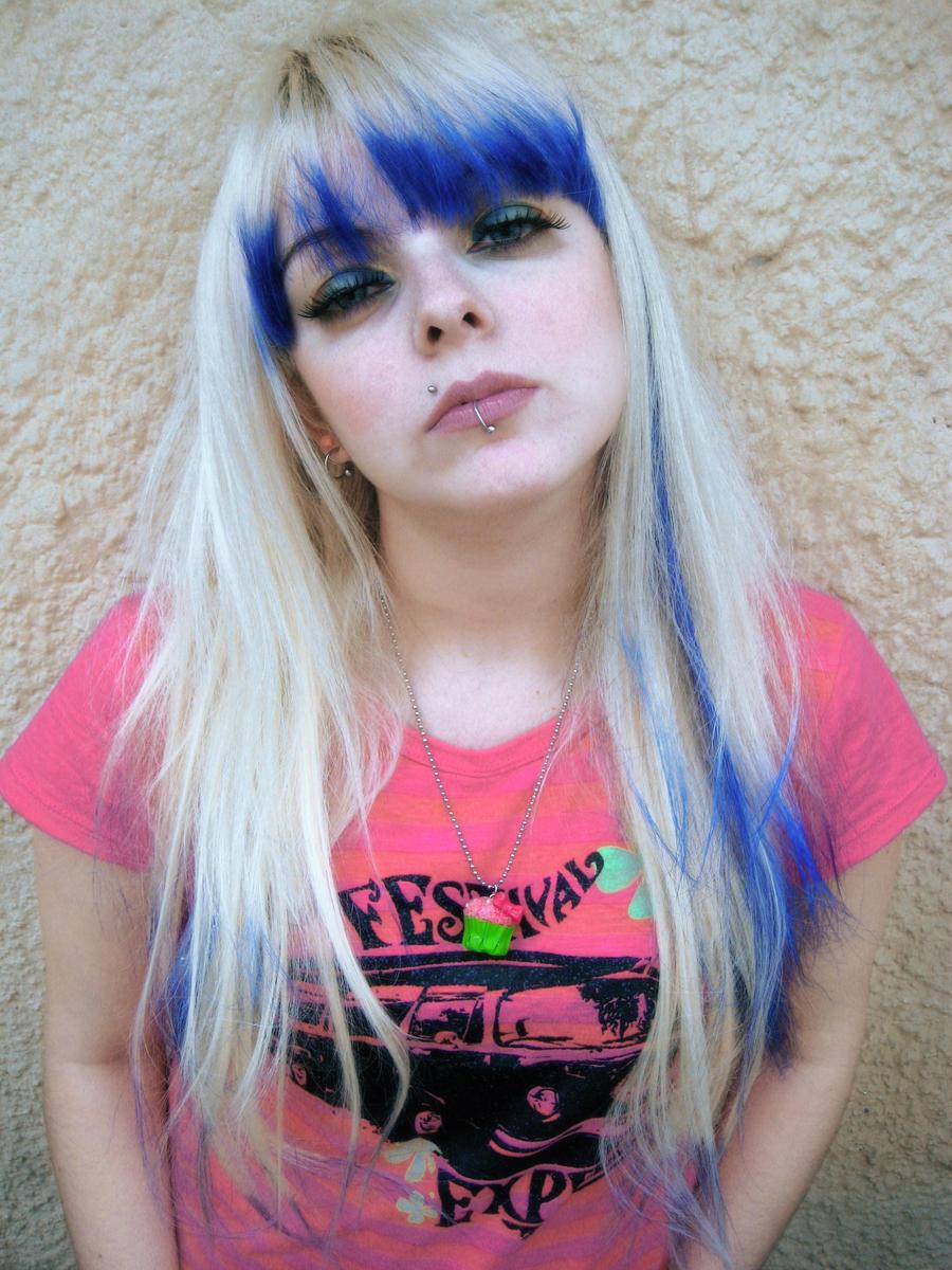 Blue Bangs Hair Girl